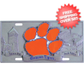 Car Accessories, License Plates: Clemson Tigers License Plate 3D