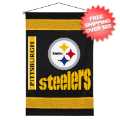 Home Accessories, Bed and Bath: Pittsburgh Steelers Wall Hanging Sideline