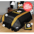 Home Accessories, Bed and Bath: Pittsburgh Steelers Bedding Sets Sideline Full