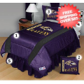 Home Accessories, Bed and Bath: Baltimore Ravens Bed Sets Sideline Twin