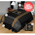 Home Accessories, Bed and Bath: New Orleans Saints Bed Sets Sideline Twin