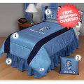 Home Accessories, Bed and Bath: North Carolina Tar Heels Bed Sets Sideline Twin