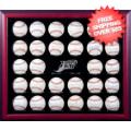Display Cases, Baseball: Tampa Bay Rays 30-Ball Mahogany Wood Baseball Display Case