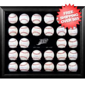 Tampa Bay Rays 30-Ball Black Wood Baseball Display Case