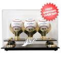 Display Cases, Baseball: Tampa Bay Rays 3-Ball Golden Classic Baseball Display Case