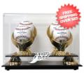 Display Cases, Baseball: Tampa Bay Rays 4-Ball Golden Classic Baseball Display Case