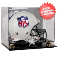 Display Cases, Helmets: Dallas Cowboys Helmet Display Case Mirrored Back and Engraved Logo