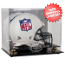 San Francisco 49ers Helmet Display Case Mirrored Back and Engraved Logo