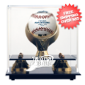 Display Cases, Baseball: Tampa Bay Rays Single Ball Golden Classic Display Case