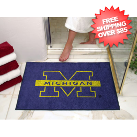 Michigan Wolverines Shower Rug