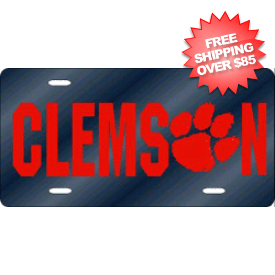 Clemson Tigers License Plate Laser Cut Navy