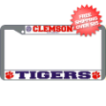 Car Accessories, License Plates: Clemson Tigers License Plate Frame Chrome