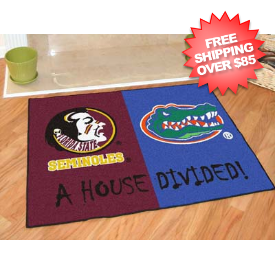 Florida Gators/Florida State Seminoles Floor Mat