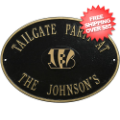 Home Accessories, Outdoor: Cincinnati Bengals Personalized Oval Plaque Black/Gold