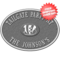 Home Accessories, Outdoor: Cincinnati Bengals Personalized Oval Plaque Pewter/Silver