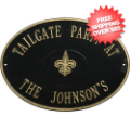 Home Accessories, Outdoor: New Orleans Saints Personalized Oval Plaque Black/Gold