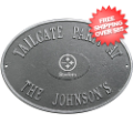 Home Accessories, Outdoor: Pittsburgh Steelers Personalized Oval Plaque Pewter/Silver