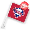 Car Accessories, Flags: Philadelphia Phillies Car Flag