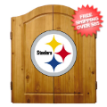 Home Accessories, Game Room: Pittsburgh Steelers Dart Board Cabinet Set
