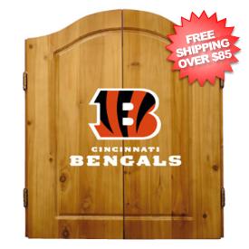 Cincinnati Bengals Dart Board Cabinet Set