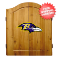 Home Accessories, Game Room: Baltimore Ravens Dart Board Cabinet Set