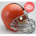 Helmets, Full Size Helmet: Cleveland Browns 1962 to 1974 Full Size Replica Throwback Helmet