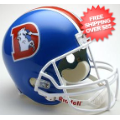 Helmets, Full Size Helmet: Denver Broncos 1975 to 1996 Full Size Replica Throwback Helmet