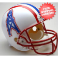 Helmets, Full Size Helmet: Houston Oilers 1981 to 1996 Full Size Replica Throwback Helmet
