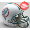 Helmets, Full Size Helmet: Miami Dolphins 1980 to 1996 Full Size Replica Throwback Helmet