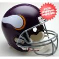 Helmets, Full Size Helmet: Minnesota Vikings 1961 to 1979 Full Size Replica Throwback Helmet