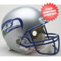 Helmets, Full Size Helmet: Seattle Seahawks 1983 to 2001 Full Size Replica Throwback Helmet