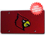 Louisville Cardinals License Plate Laser Cut