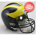 Helmets, Full Size Helmet: Michigan Wolverines Full Size Replica Football Helmet
