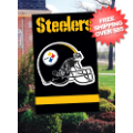 Home Accessories, Outdoor: Pittsburgh Steelers Outdoor Flag <B>BLOWOUT SALE</B>