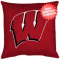 Home Accessories, Bed and Bath: Wisconsin Badgers Toss Pillow