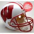 Helmets, Full Size Helmet: Wisconsin Badgers Full Size Replica Football Helmet