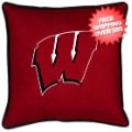Home Accessories, Bed and Bath: Wisconsin Badgers Toss Pillow Sideline