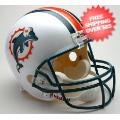 Helmets, Full Size Helmet: Miami Dolphins 1997 to 2012 Full Size Replica Throwback Helmet