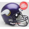 Helmets, Full Size Helmet: Minnesota Vikings 2006 to 2012 Full Size Replica Throwback Helmet