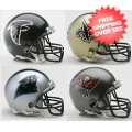 Helmets, Mini Helmets: Atlanta Falcons, New Orleans Saints, Carolina Panthers, Tampa Bay Buccaneer...