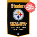 Home Accessories, Game Room: Pittsburgh Steelers Banner Wool Dynasty
