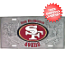 San Francisco 49ers License Plate 3D Silver