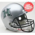 Helmets, Full Size Helmet: Hawaii Warriors Full Size Replica Football Helmet Silver