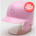 Helmets, Mini Helmets: Boston Red Sox Mini Batters Helmet Pink Riddell