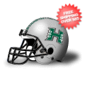 Helmets, Full Size Helmet: Hawaii Warriors Authentic College Football Helmet Schutt <B>Silver</B>
