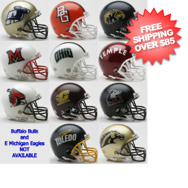 MID American Speed Mini Football Helmet Conference Riddell NCAA Helmets