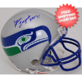 Autographs, Mini Football Helmets: Steve Largent Seattle Seahawks Autographed Mini Helmet