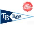 Collectibles, Pennants: Tampa Bay Rays MLB Pennant Wool