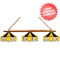 Home Accessories, Game Room: Pittsburgh Steelers Billiard Three Shade Glass Lamp