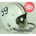 Helmets, Full Size Helmet: West Virginia Mountaineers 1959 Full Size NCAA Throwback Vintage Football H...